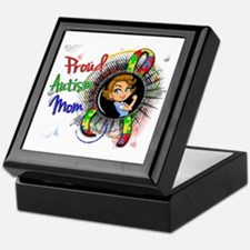 Autism Rosie Cartoon 1.2 Keepsake Box
