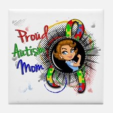 Autism Rosie Cartoon 1.2 Tile Coaster