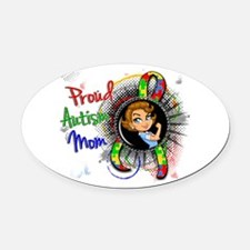 Autism Rosie Cartoon 1.2 Oval Car Magnet