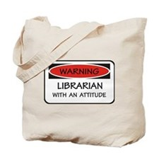 Attitude Librarian Tote Bag