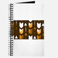 Orange Arrow pattern Journal