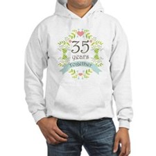 35th Anniversary flowers and hea Hoodie