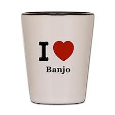 I love Banjo Shot Glass