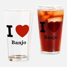 I love Banjo Drinking Glass