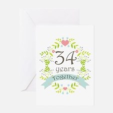 34th anniversary 34th anniversary greeting cards card