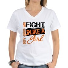 Multiple Sclerosis Fight Like a Girl Grunge T-Shir