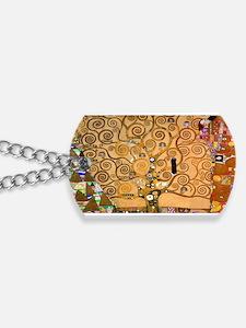 Klimt Tree of Life Dog Tags