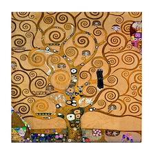 Klimt Tree of Life Tile Coaster