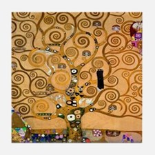 Klimt Tree of Life Tile Coaster