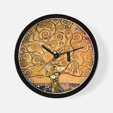 Klimt Tree of Life Wall Clock