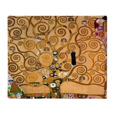 Klimt Tree of Life Throw Blanket