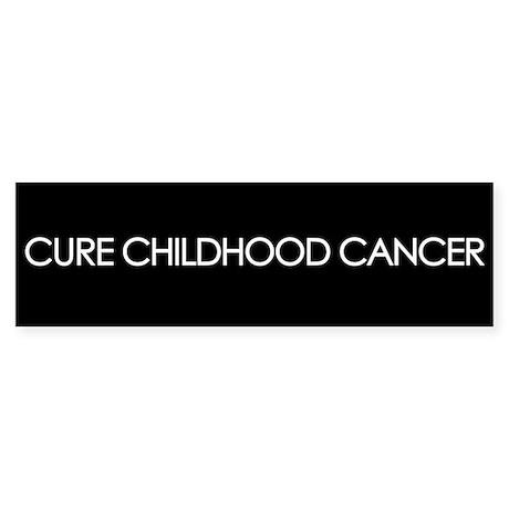 Cure Childhood Cancer Bumper Sticker