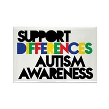 Support Differences - Autism Awareness Magnets