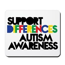 Support Differences - Autism Awareness Mousepad