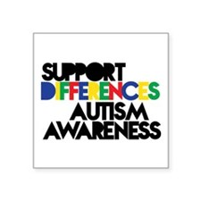 Support Differences - Autism Awareness Sticker