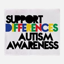 Support Differences - Autism Throw Blanket