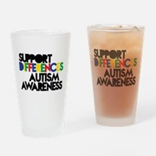Support Differences - Autism Awareness Drinking Gl