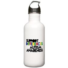 Support Differences - Autism Awareness Water Bottl