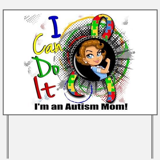 Autism Rosie Cartoon 3.2 Yard Sign