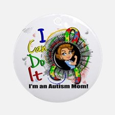 Autism Rosie Cartoon 3.2 Ornament (Round)