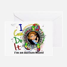 Autism Rosie Cartoon 3.2 Greeting Card