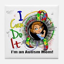 Autism Rosie Cartoon 3.2 Tile Coaster