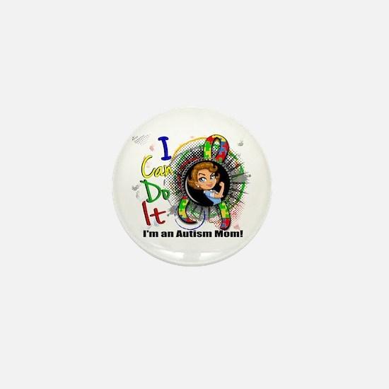 Autism Rosie Cartoon 3.2 Mini Button (10 pack)