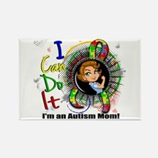 Autism Rosie Cartoon 3. Rectangle Magnet (10 pack)