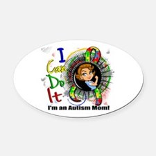 Autism Rosie Cartoon 3.2 Oval Car Magnet