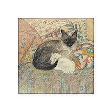 """Steinlen Cat Square Sticker 3"""" x 3"""""""