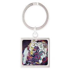 Klimt work Square Keychain