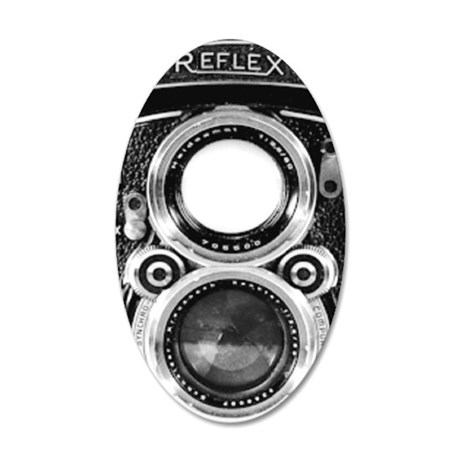 Vintage Camera Phone Case 35x21 Oval Wall Decal