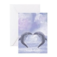 Dolphins Kisses Greeting Cards