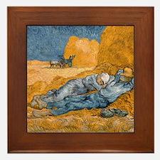 Van Gogh The Siesta Framed Tile