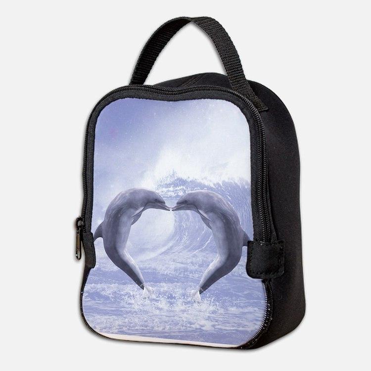 Dolphins Kisses Neoprene Lunch Bag