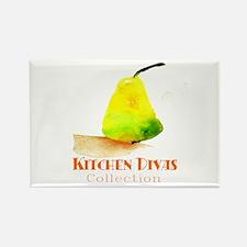 """""""Kitchen Divas"""" Rectangle Magnet"""