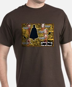 Jack the Ripper Victim Map Orange T-Shirt