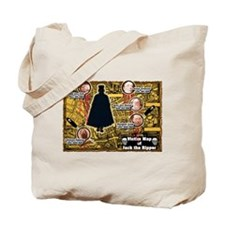 Jack the Ripper Victim Map Orange Tote Bag