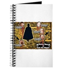 Jack the Ripper Victim Map Orange Journal