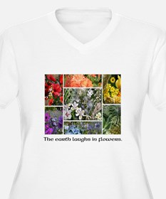 The Earth Laughs in Flowers Plus Size T-Shirt