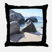 Blissful Beach Throw Pillow