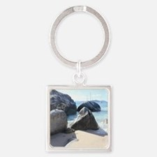 Blissful Beach Square Keychain