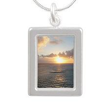 Aruba Sunset Silver Portrait Necklace