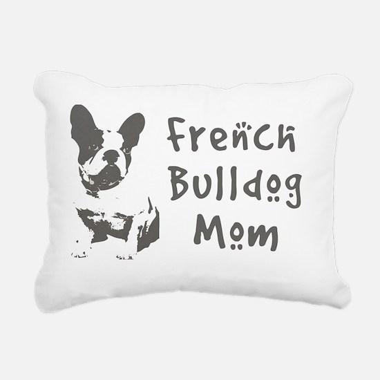 French Bulldog Mom Rectangular Canvas Pillow
