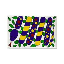 Snake Art Abstract Rectangle Magnet