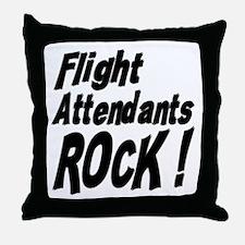 Flight Attendants Rock ! Throw Pillow
