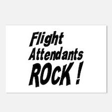 Flight Attendants Rock ! Postcards (Package of 8)