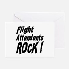 Flight Attendants Rock ! Greeting Cards (Package o