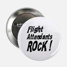 """Flight Attendants Rock ! 2.25"""" Button (100 pack)"""