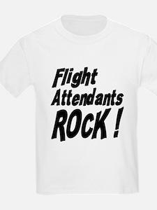 Flight Attendants Rock ! T-Shirt